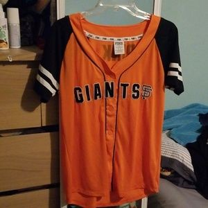 Orange and black sf giants baseball Jersey